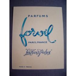 Ancien calendrier parfumé 1954 Les Trois Valses de Forvil