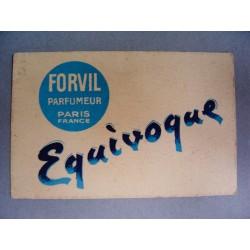 Ancienne carte parfumée Equivoque de Forvil