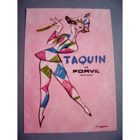Ancienne carte parfumée Taquin de Forvil