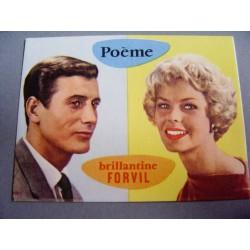 Ancien calendrier parfumé 1962 Poême de Forvil