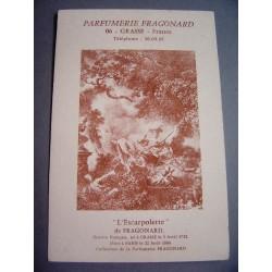 Ancienne carte parfumée L'Escarpolette - Parfumerie Fragonard