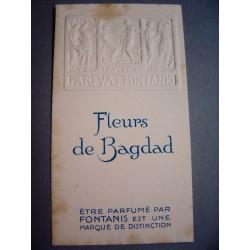 Ancienne carte parfumée Fleurs de Bagdad de Fontanis