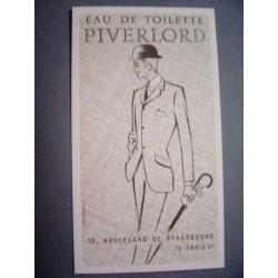 Ancienne carte parfumée Piverlord