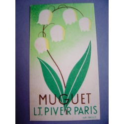 Ancienne carte parfumée Muguet de L.T. Piver