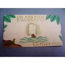 Ancienne carte parfumée Un parfum d'aventure de L.T. Piver