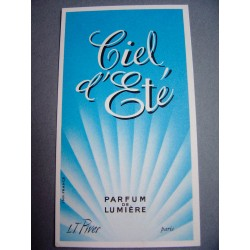 Ancienne carte parfumée Ciel d'Eté de L.T. Piver