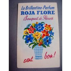 Ancienne carte parfumée Bouquet de fleurs de Roja flore