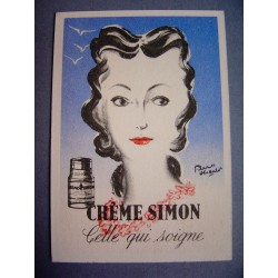 Ancienne carte parfumée Crème Simon