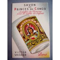 Ancienne carte parfumée Savon des Princes du Congo de Victor Vaissier