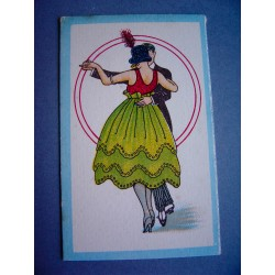 Ancienne carte parfumée La Reina de las Flores