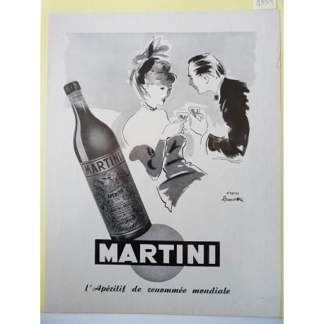 Ancienne publicité originale noir & blanc Martini de Brunetta