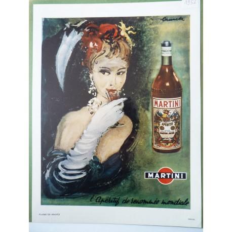 Ancienne publicité originale couleur Martini de Brunetta
