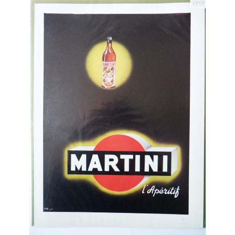Ancienne publicité originale couleur Martini