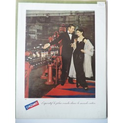 Ancienne publicité originale couleur Cinzano 1953