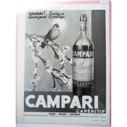 Ancienne publicité originale noir & blanc Campari 1954