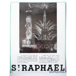 Ancienne publicité originale noir & blanc St Raphaël 1937