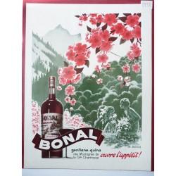 Ancienne publicité originale en bichromie Bonal 1938