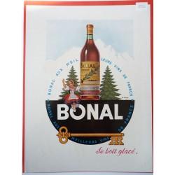 Ancienne publicité originale couleur Bonal de Lemmel 1950