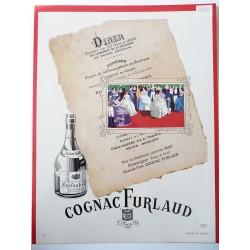 Ancienne publicité originale couleur pour le Cognac Furlaud 1950