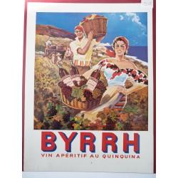 Ancienne publicité originale couleur Byrrh de Falucci 1954