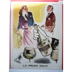 Ancienne publicité originale couleur La Pruna Dolfi de Brénot 1948