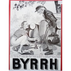 Ancienne publicité originale noir & blanc Byrrh de Georges Léonnec 1937