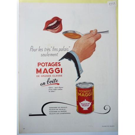 Ancienne publicité originale couleur Nescafé 1951