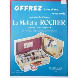 Ancienne publicité originale couleur pour la malette Rocher 1950