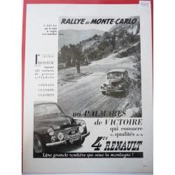 Ancienne publicité originale noir & blanc pour la 4CV de Renault 1949