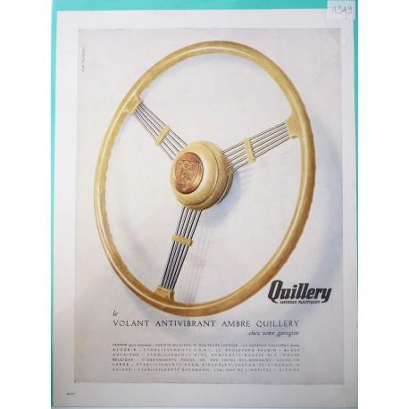 Ancienne publicité originale couleurs pour les volants Quillery 1949