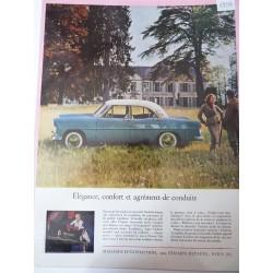 Ancienne publicité originale couleur pour les automobiles Vedette 1954