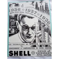 Ancienne publicité originale noir & blanc Shell 1937
