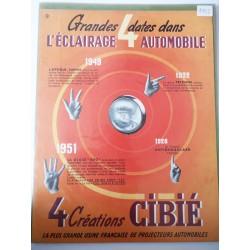 Ancienne publicité originale couleur pour l'éclairage automobile Cibié 1952