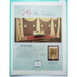 Ancienne publicité originale couleur Boucheron 1946
