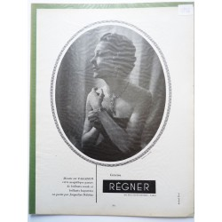 Ancienne publicité originale noir & blanc Régnier avec Jacqueline Delubac 1952