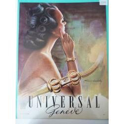 Ancienne publicité originale couleur Universal de Chambellay 1948