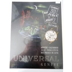 Ancienne publicité originale couleur Universal 1947