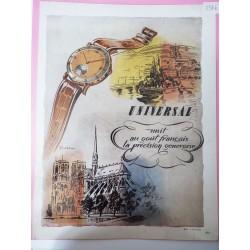 Ancienne publicité originale couleur Universal 1946