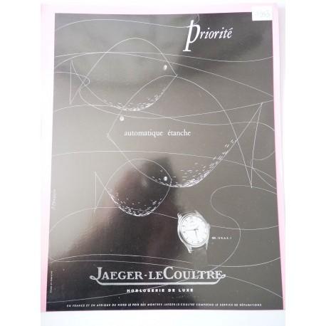 Ancienne publicité originale noir & blanc Jaeger-LeCoultre de Praquin 1953