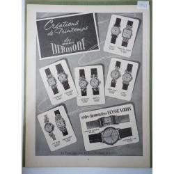 Ancienne publicité originale noir & blanc Dermont 1952