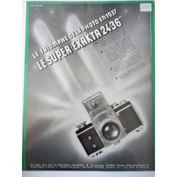 Ancienne publicité originale noir & blanc pour les appareils photo Exakta 1937