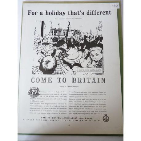 Ancienne publicité originale noir & blanc Grande Bretagne 1954