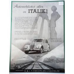 Ancienne publicité originale noir & blanc Italie 1937