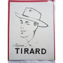 Ancienne publicité originale noir & blanc pour les chapeaux Tirard de Pierre Simon 1947