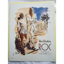 Ancienne publicité originale couleur pour les chaussures Roc de Louis Delmotte 1947