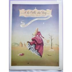 Ancienne publicité originale couleur A la Ville du Puy de A. Barlier 1949