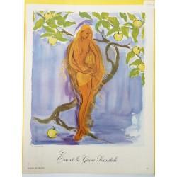 Ancienne publicité originale couleur pour la gaine Scandale de Lesage 1951