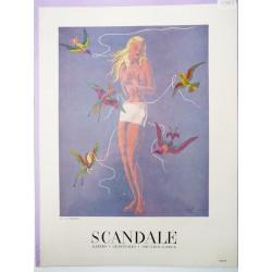 Ancienne publicité originale couleur pour la gaine Scandale de Lesage 1949