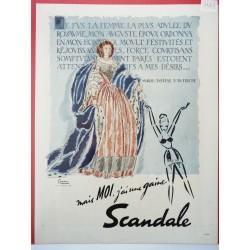 Ancienne publicité originale couleur pour Scandale de Facon Marrec 1948