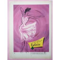 Ancienne publicité originale couleur pour la lingerie Valisère 1955